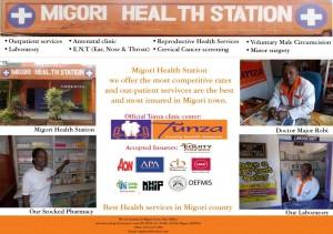 Migori Health Station Advert