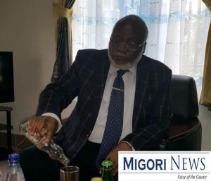 Migori Senator Wilfred Machage in his office
