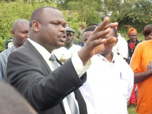 Kuria West MP Mathias Robi when he launched a new KMTC at Kehancha District Hospital