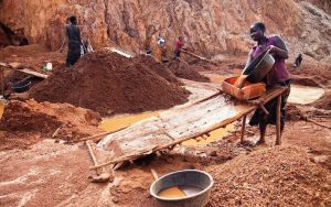 Gold miners at the Macalder mines in Nyatike in Migori County, where cases of children working in violation of the labour laws is the order of the day. [Photo: Malachi Motano)