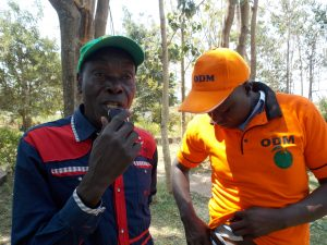 Odongo Ragoi (L) and Joseph Olala at Legacy Hotel in Bondo Nyironge
