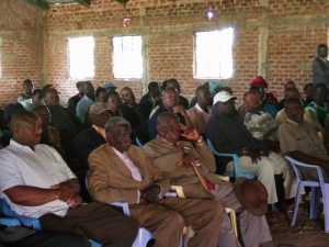 A section of Kuria elders from the four clans during the aspirant tour